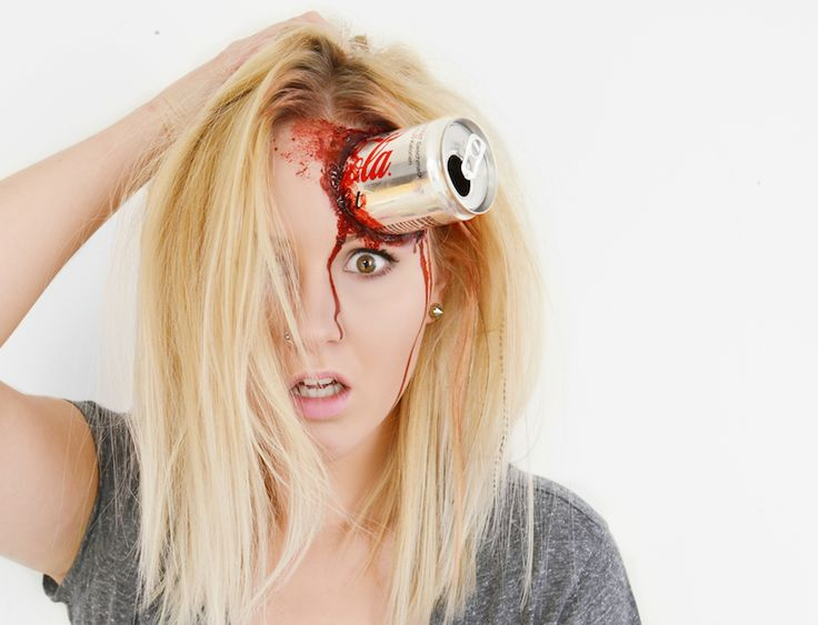 Halloween Make Up: Beverage Can in my head ! {creepy, bloody, crazy} #HappyHalloween