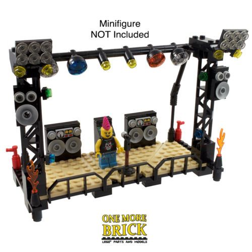 LEGO-Music-Stage-Concert-Stand-lights-speakers-DJ-equipment-166-Parts