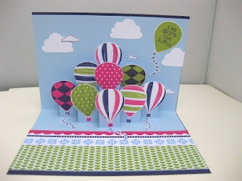 Stampin' Up! Pop Up Card - Up Up and Away