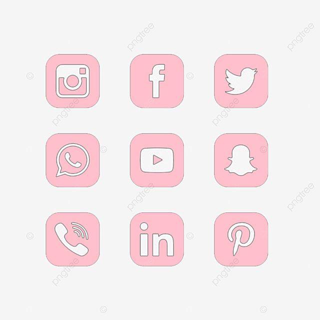 Social Media Pink Instagram Icon Youtube Whatsapp Facebook Pinterest Snapchat Pink Social Media Pink Instagram Icon Png Transparent Clipart Image And Psd Fi Pink Instagram Instagram Icons Cute App