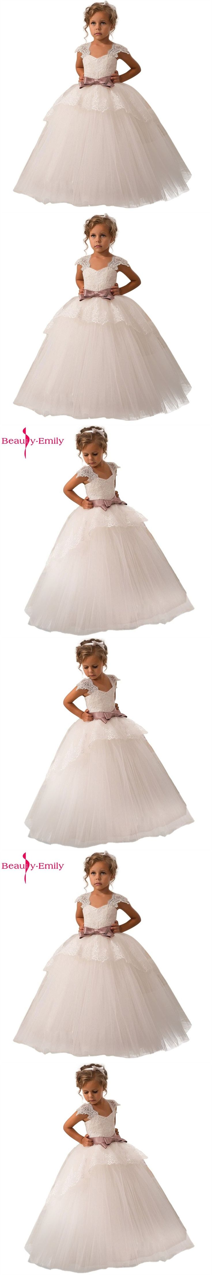 Beauty-Emily flower girls dresses for weddings Baby Party frocks sexy children images Dress kids prom dresses evening gowns 2016