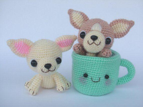 Chihuahua Tea Cup Puppy  PDF Crochet Pattern por jaravee en Etsy