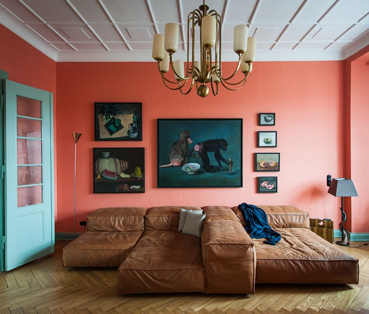 Pink Living Room In A Home Berlin Germany By Designer Gisbert Poeppler