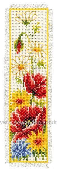 Buy Summer Flowers Bookmark Cross Stitch Kit online at sewandso.co.uk