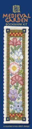 Textile Heritage Medieval Garden Counted Cross Stitch Bookmark Kit