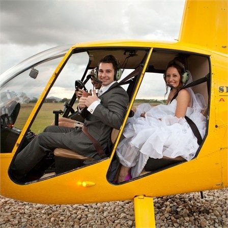 Surprise your guests with an unforgettable helicopter entrance. Touche' can arrange this for you!