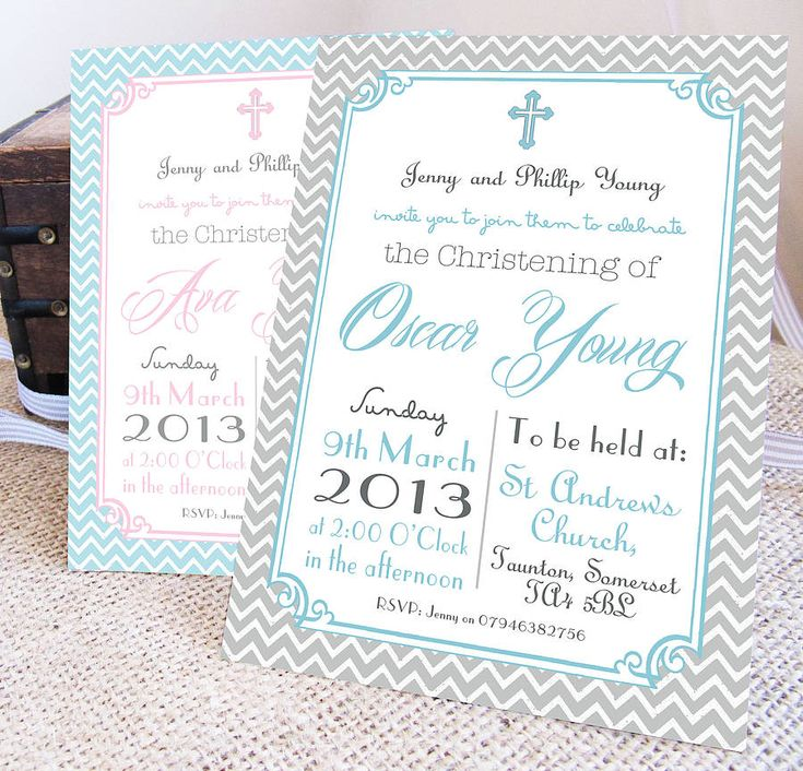 personalised 'christening' invitations by precious little plum | notonthehighstreet.com