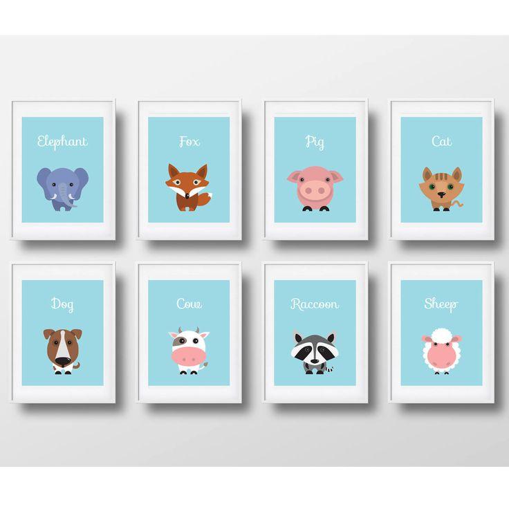 Un favorito personal de mi tienda de Etsy https://www.etsy.com/es/listing/554551329/animals-decoration-for-boys-room