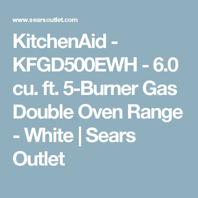 KitchenAid - KFGD500EWH - 6.0 cu. ft. 5-Burner Gas Double Oven Range - White | Sears Outlet