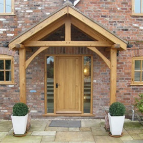Oak porch entrance... Just needs two bay trees :)