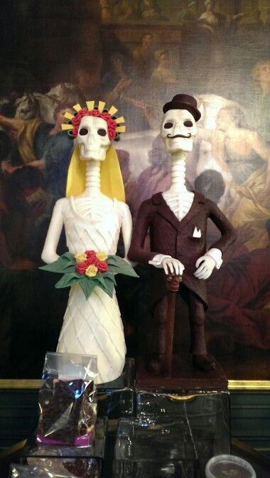 Chocolate bride and groom @ Dominique Persoone in Antwerp, Belgium