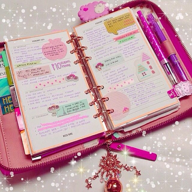 #ShareIG Last weeks pages have a great day #katespade #katespadeagenda #filofax #planner #diary #journal #organizer #stationery #stickynotes #stickers #pink
