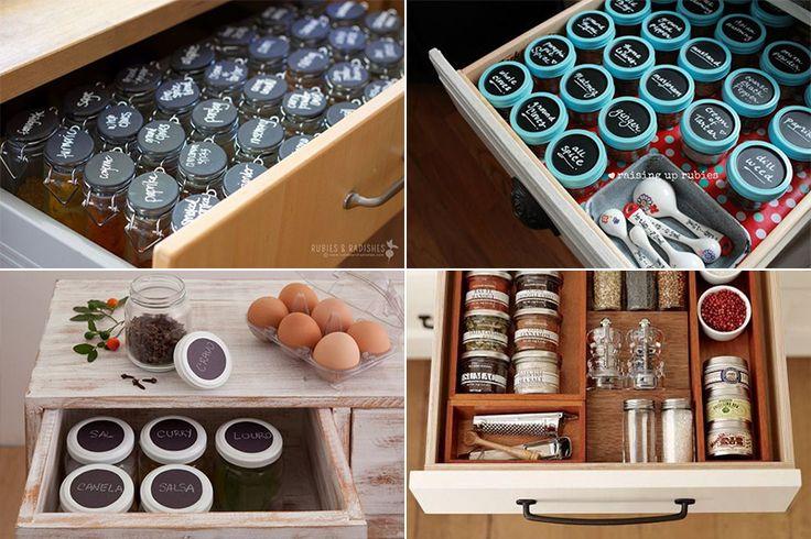 Ideias para organizar temperos na cozinha - Casinha Arrumada