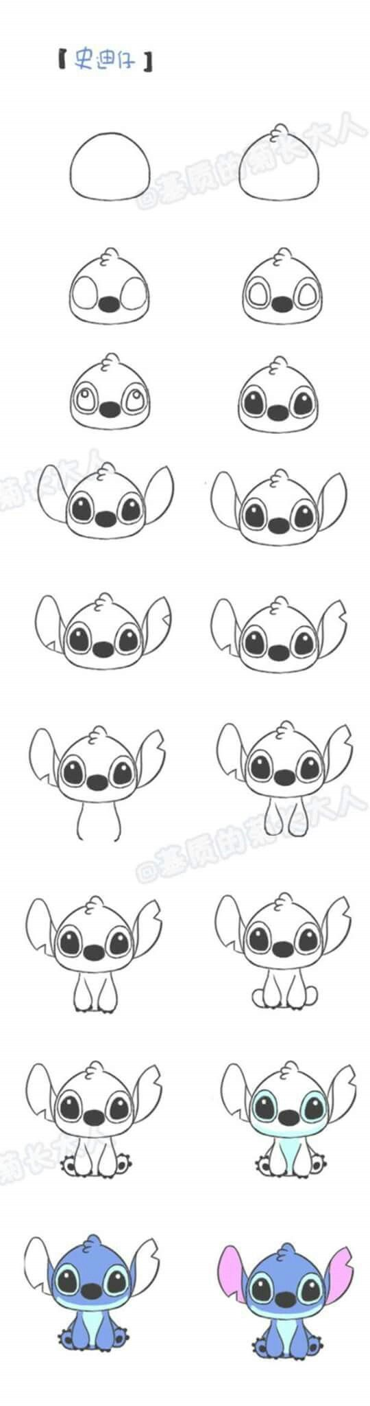 Stitch dibujo facil