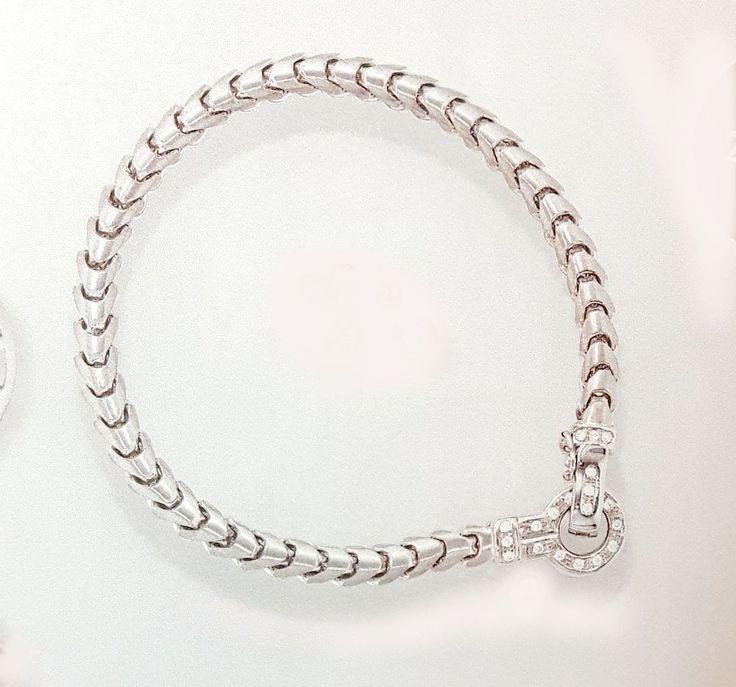 NEU Diamanten Armband Weißgold 585 echt Gold 19 cm Armkette 14 Karat 0,20 ct.