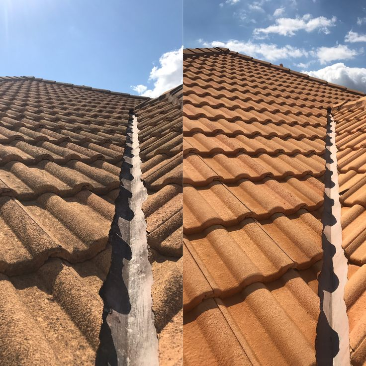 Roof cleaning by waterworx pressure cleaning