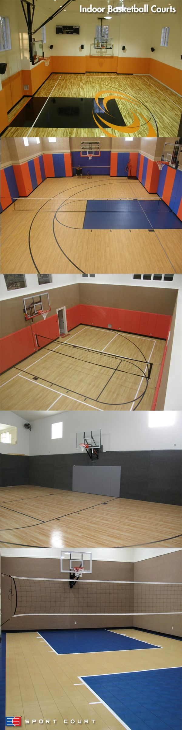 With a Sport Court Indoor Basketball Court, you can expect year round fun for the whole family!  www.sportcourt.com