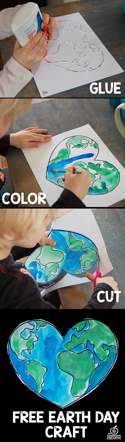 earth day craft with free printable