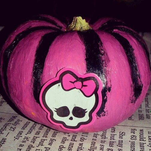 monster high pumpkin pumpkin decoratingpumpkin ideashalloween