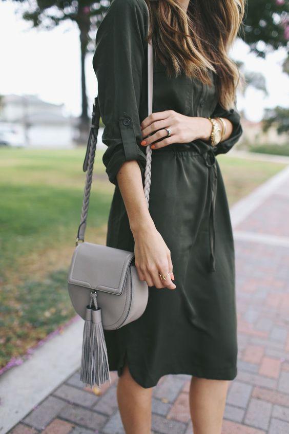 Street style | Military dress