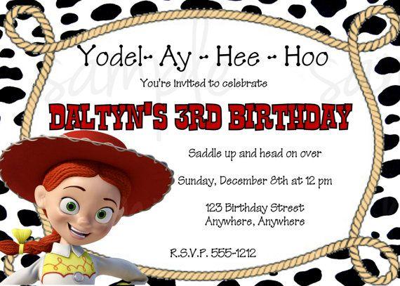 Jessie Toy Story Birthday Invitation via Etsy