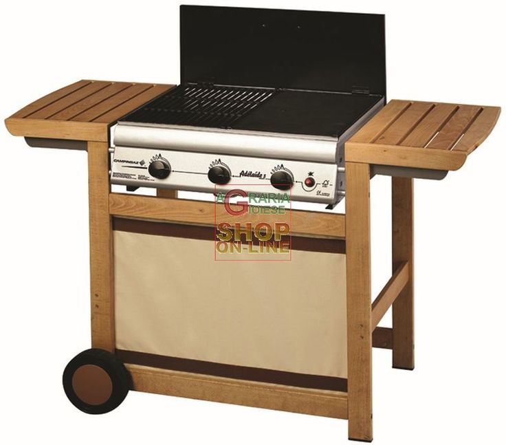 CAMPINGAZ BARBECUE A GAS ADELAIDE WOODY 3 KW. 14 https://www.chiaradecaria.it/it/barbecue-a-gas/3417-campingaz-barbecue-a-gas-adelaide-woody-3-kw-14-3138522034313.html