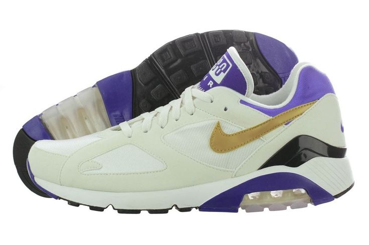 Nike Air Max 180 QS Men s Shoes Trainers Retro White Gold Purple 626960 175 NEW