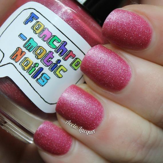 Sure As Sugar Nail Polish pink matte shimmer | Etsy