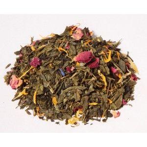 1001 noches: Té verde China Sencha y una combinación de flores que no dejan indiferente a nadie.