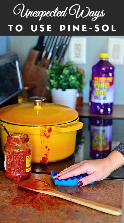 Kitchen accidents happen! Clean up any saucy mess with ease with Pine-Sol.