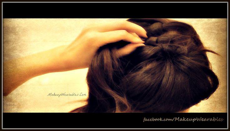 DIY hair tutorial - fancy formal chignon/bun updos upstyle hairdo