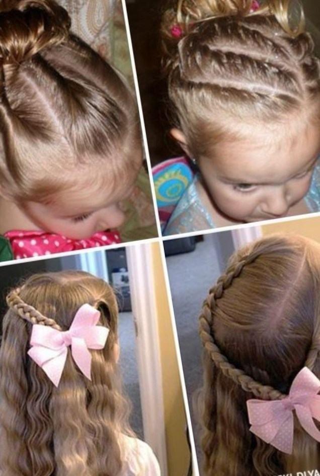 Плетение волос на короткие волосы для детей