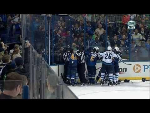 Giant scrum late 3rd. Ryan Reaves, Dustin Byfuglien Winnipeg Jets vs St. Louis Blues 3/17/14 NHL - YouTube
