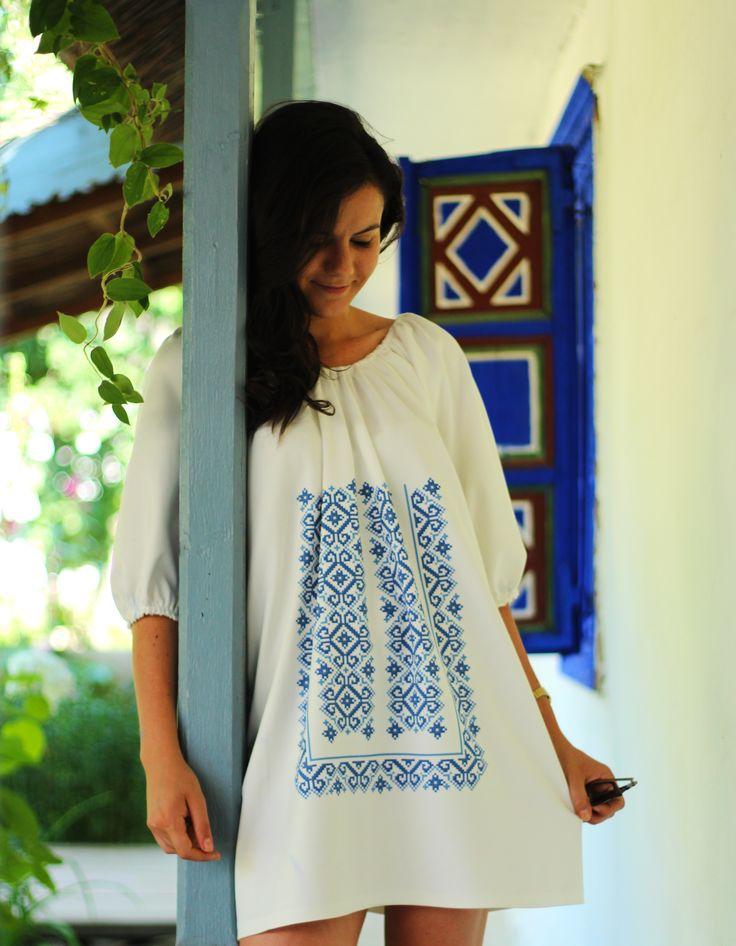 #digital #ia #motivepopulare #dobrogea #jurilovca #dress #cotton #iaromaneasca #ziuaiei   Shop Dress: http://theitem.co/product/digital-ia