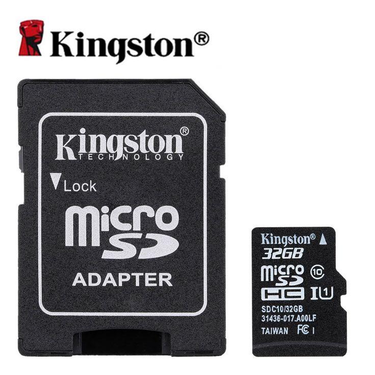 Original Kingston Memory Card Micro SD Card 32GB Class 10 Cartao de Memoria 32 GB Tarjeta Micro SD TF Card with Microsd Adapter
