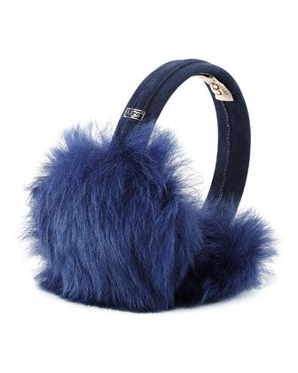 Toscana+Headphone+Wired+Shearling+Fur+Ear+Muffs+by+UGG+Australia+at+Neiman+Marcus.