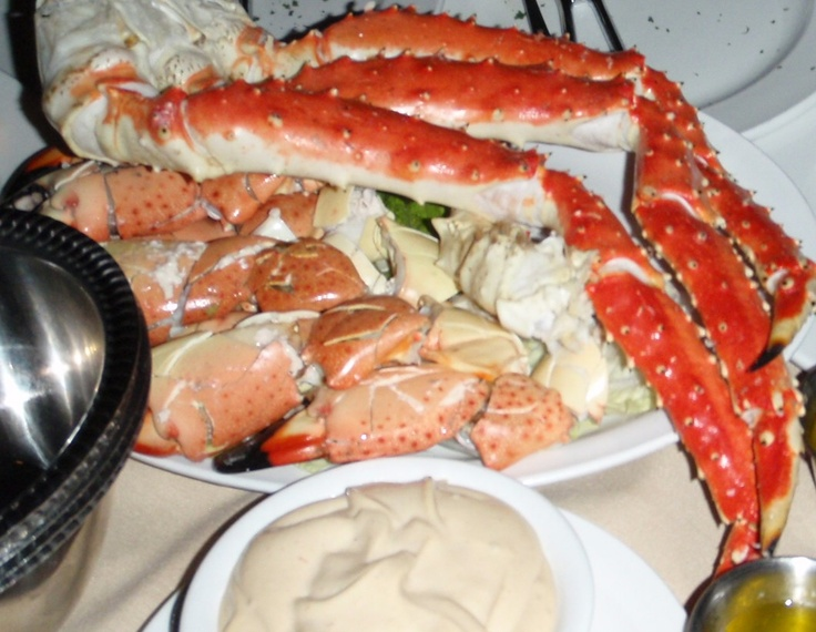 King Crab Legs and  Florida Stone Crabs - what could be a better seafood combination! Enjoy the best at Billy's Stone Crab Restaurant in Hollywood,  Florida