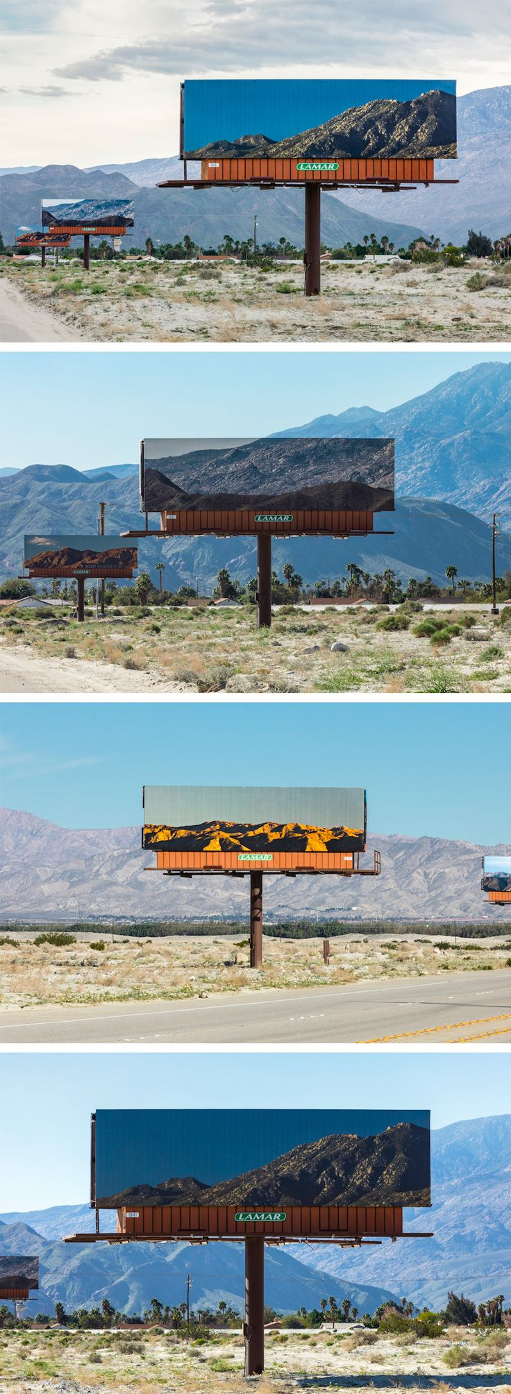 Billboards That Advertise the Surrounding California Landscape by Jennifer Bolande
