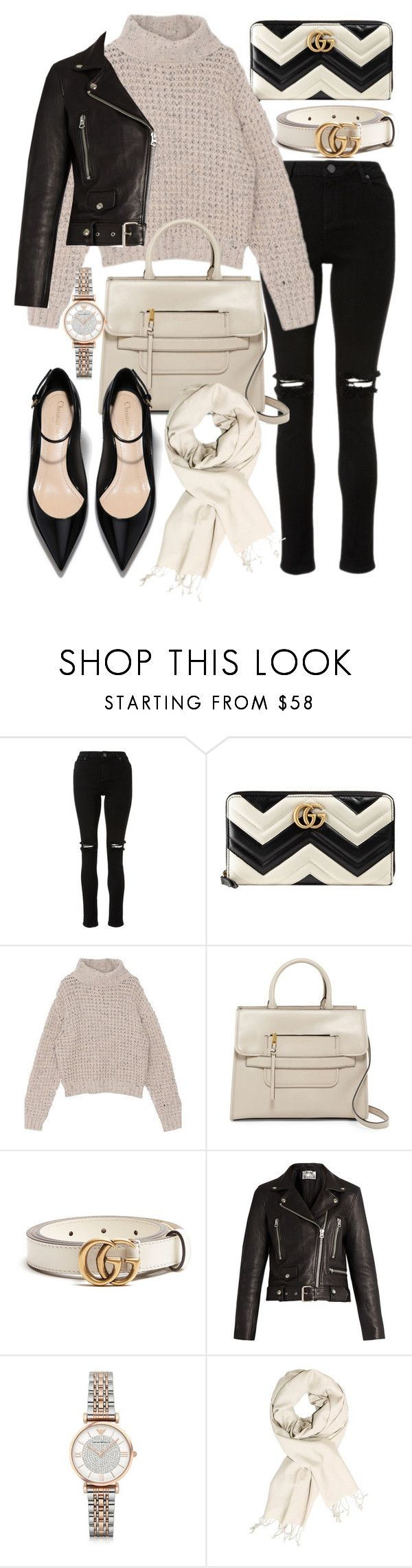 """Untitled #22196"" by florencia95 ❤ liked on Polyvore featuring Gucci, Marc Jacobs, Acne Studios and Emporio Armani"