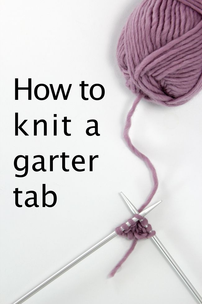 Easy To Learn Knitting Stitches : Learn how to work an easy garter stitch tab with this knitting video tutorial...