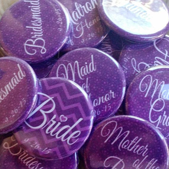 """For Bachelorette Party? 15 1.25"""" Purple Bachelorette Party Buttons, Badges, Pins"""