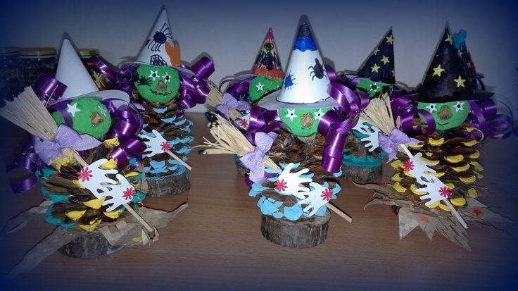 Čarodějnice ze šišek :: Tvoření nejen s dětmi