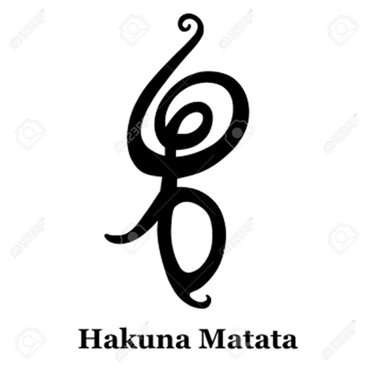 "Hakuna Matata symbol - ""No worries for the rest of your days"""