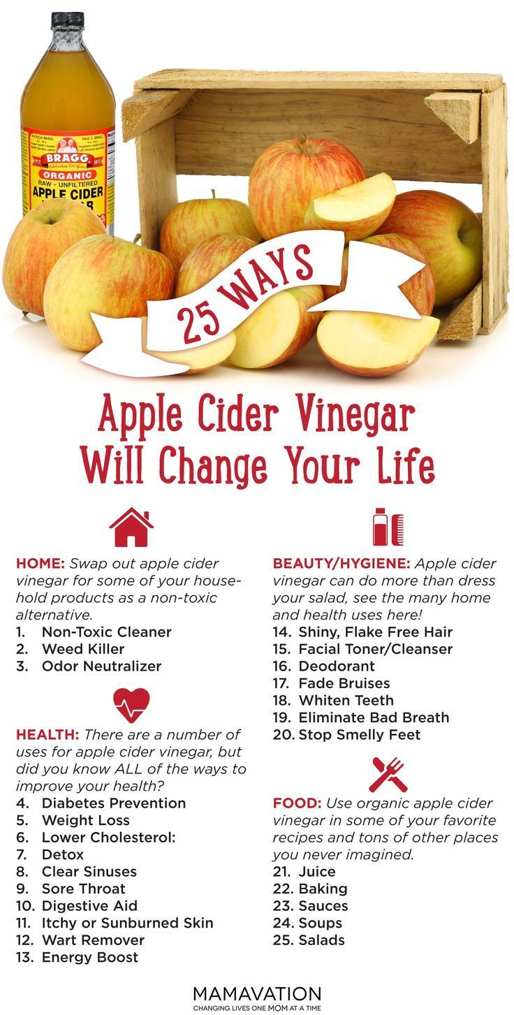 The health benefits of apple cider vinegar.