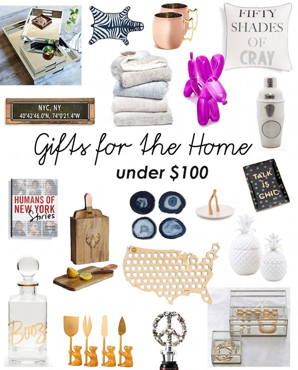 The best holiday gifts for the home under $100. Great affordable gifts for new homeowners or couples. http://www.katiesbliss.com/2015/11/holiday-gift-guide-gifts-for-the-home-under-100.html/