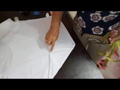 Шьём нарядную блузку из футболки.Переделка. - YouTube