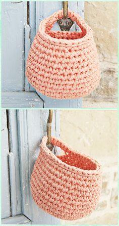 Crochet Hanging Basket Free Pattern - Crochet Spa Gift Ideas Free Patterns