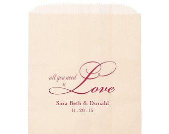 Candy Bar Bags Love is Sweet Goodie bag Foil by TeaAndBecky
