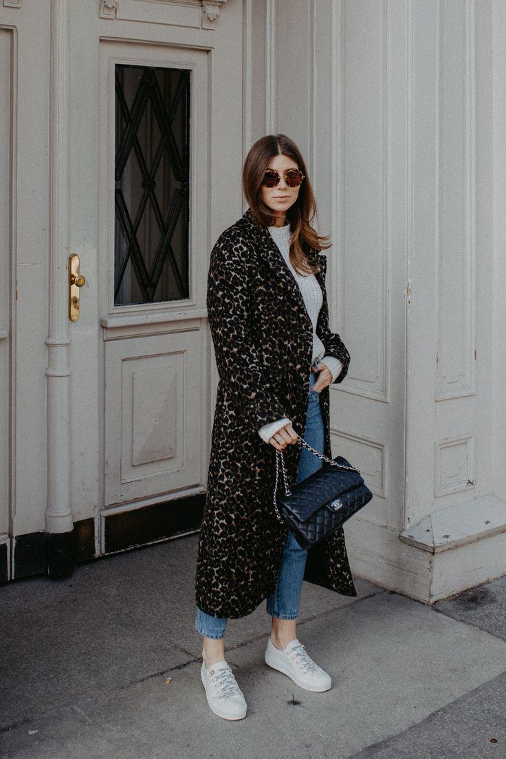 Outfit: long leo coat + Dior sneakers | Bikinis & Passports