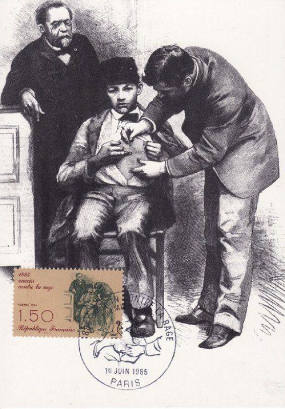 Timbre : 1985 vaccin contre la rage | WikiTimbres